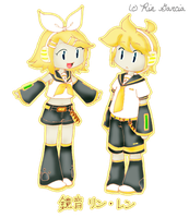 Vocaloid: Kagamine Rin and Len by dokkyunheart