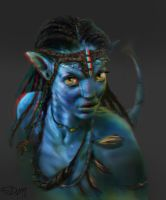 Neytiri Painting now in 3D by SteveDelamare