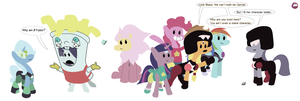 MLP cosplay Steven Universe ~ Group by LiraCrown