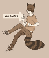 ken rogers - monochrome comm by alpacasovereign