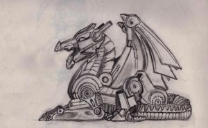 Mechanical Dragon by pomelichat
