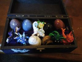 Fimo Dragons In Decorated Box by kshepherd5