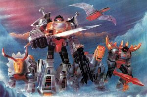 DINOBOTS GETTING TO ATTACK by jetfire333