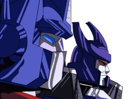 Optimus And Galvatron (Colored/Digitalized) by NotoriousAkber