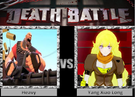 Death Battle: Heavy vs. Yang by WarioGuy