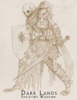 Dark Lands-Skeleton Warrior by WhiteFenrril