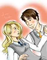 Neville and Luna by bunnimation