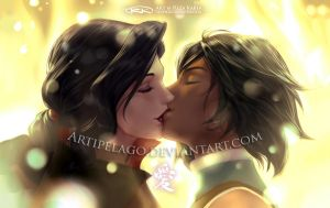 Korra x Asami - Just the Two of Us by Artipelago