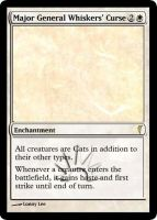 MtG Cats - Major General Whiskers Curse by E-n-S