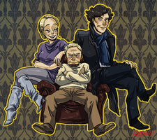fan art-sherlock season three!! by SAcommeSASSY