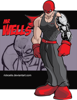 OC Rick Celis - Mr Wells color by RickCelis