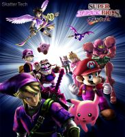 Super Pink Bros. Brawl by Little-Lovely