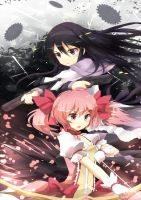 homura and madoka by MUSHIboyHANN