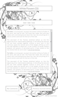 White Flowers CSS Easy Install by moonfreak