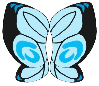 Butterfree Wing Design by icedragonwarrior