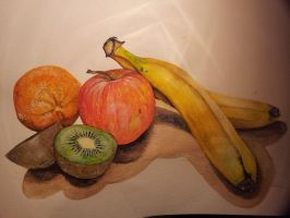 Watercolour fruit by claudaladywizard