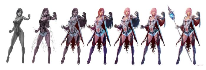 Concept for FF XIII lightning returns contest 2 by Murilo-Araujo
