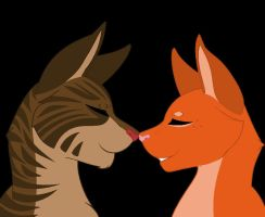 Brambleclaw and Squrrielflight by CoalPatchOfDuskClan