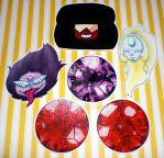 Steven Universe Stickers -Group 1- by 13anana