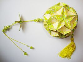 Green Butterfly Kusudama by eduardaapp