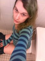 Facebook Fun Set--Toilet Sitting by KatrinaTheLamia