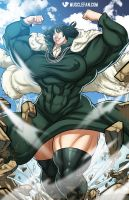 Female Muscle Growth Fubuki by muscle-fan-comics