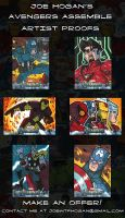 Joe Hogan Avengers Artist Proof Cards by JoeHoganArt