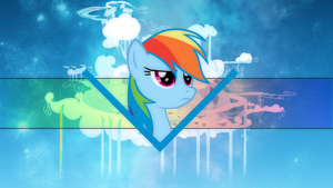 Rainbow Dash Cloudsdale Wallpaper by Dashie-Arts