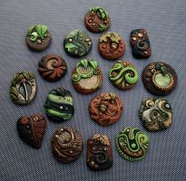 Large Group of Woodland Cabochons by MandarinMoon