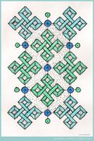 My Blue Heaven Mandala by Quaddles-Roost