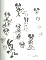 Mickey Sketches by ZanyArtist