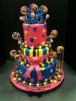 Lolly Pop Cake by Spudnuts