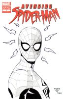 Avenging Spiderman blank cover by guillomcool
