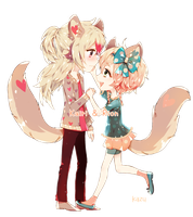 chibi commission: Kairi and Rion by deaeru