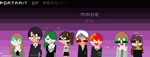 Everypony in Persona portrait by Kari4ever