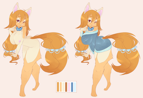 ADOPTABLE Auction Fox/Dog Girl by CoffeeChicken