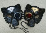 Two Industrial Wolf Masks