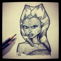 Ahsoka Tano - Daily Sketch by GJoe