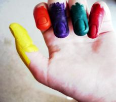 Painted hand by ThinkFrog