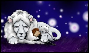 Angel and the White Lion by LadyMartina