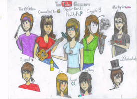 Gender Bender Youtubers! by gummybeargirl1313