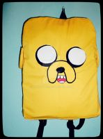 adventure time - jake the dog backpack by akirepower
