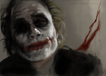 Heath Ledger Joker by TsunamiRaine