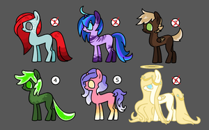 Pony Adopt Batch 4 [OPEN] 1/6 by FattyFrogAdopts