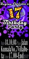 Sweet 17 Party flyer by artemiscrow