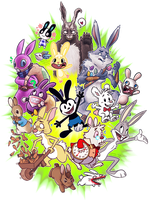 Attack of the Bunnies by Scarfowl
