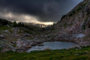 Mountain Lake After Storm by TheCrossdresser