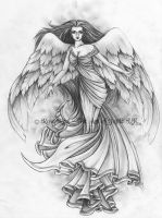 Angel tattoo design 2 by Laiyla