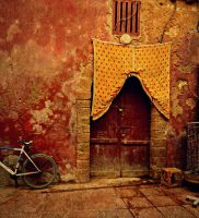 The Yellow Curtain in Marrakech, Morocco by SHParsons
