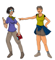 Tracey and Amy for project by saintfighteraqua
